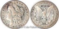 Photo of Morgan Silver Dollar in fine (F15) condition/grade.