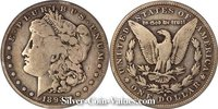 Photo of Morgan Silver Dollar in good (G6) condition/grade.