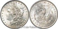 Photo of Morgan Silver Dollar in MINT STATE (MS63) condition/grade.