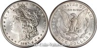 Photo of Morgan Silver Dollar in mint state MS64) condition/grade.