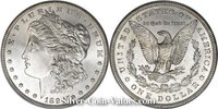 Photo of Morgan Silver Dollar in mint state (MS66) condition/grade.