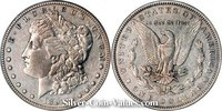 Photo of Morgan Silver Dollar in very fine (VF20) condition/grade.