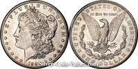 Photo of Morgan Silver Dollar in extremely fine (XF45) condition/grade.